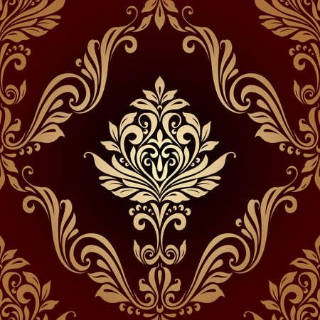 motif floral: motif vintage fond de style de luxe Floral seamless Illustration