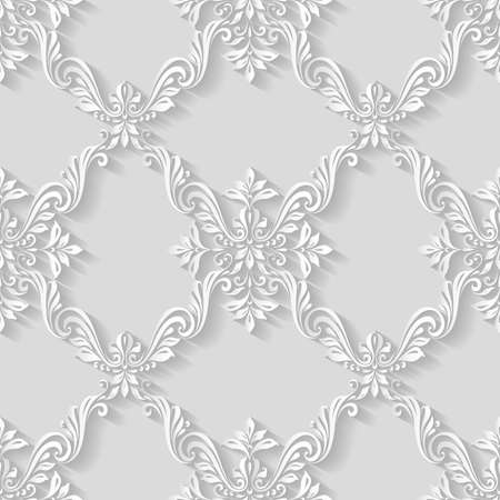 pattern vintage: Vintage pattern background seamless floral foliage abstract Illustration