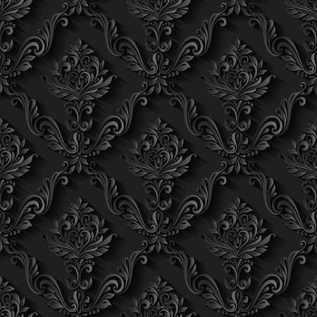 floral vintage: Vintage abstract pattern seamless background floral foliage Illustration