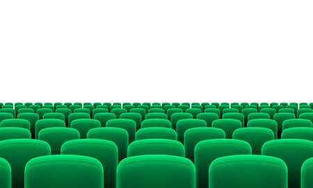 seats: Rows of Cinema or Theater Green Seats