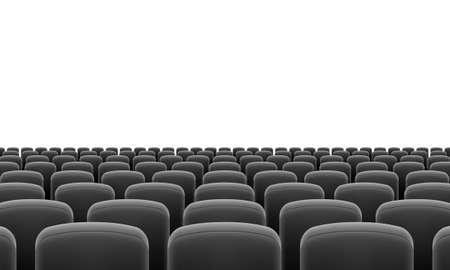 Rijen van Cinema of Theater Black Seats