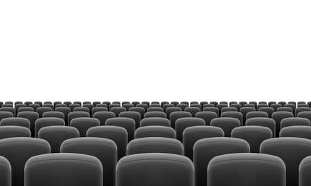theater audience: Rows of Cinema or Theater Black Seats