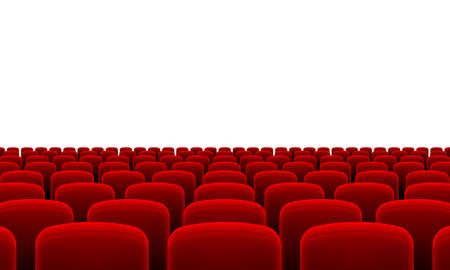 rows: Rows of Cinema or Theater Red Seats