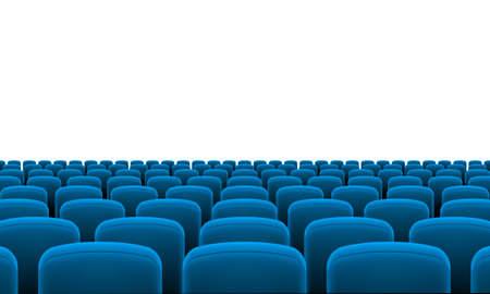 teatro: Filas de cine o asientos del teatro Azul Vectores