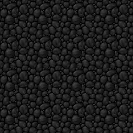 black stone: Texture seamless  black stone for game interface or other design idea Illustration