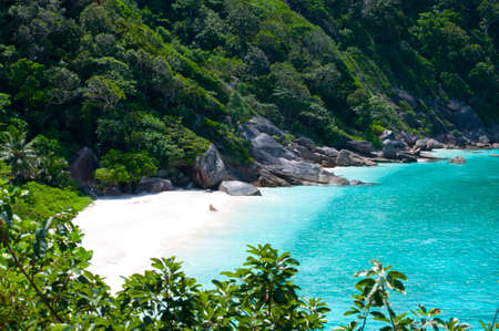 similan islands: Romantic Wild coast with blue sea Similan Islands Thailand