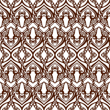 scetch: Seamless doodle pattern scetch line decoration background Stock Photo