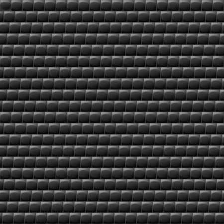 galvanize: Heterogeneous corrugated surface. Seamless pattern black background Illustration