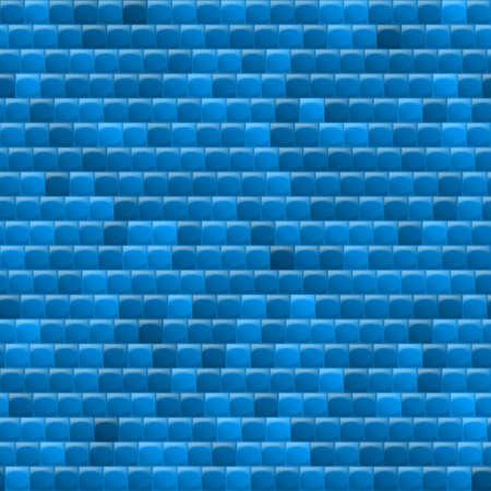 heterogeneous: Heterogeneous corrugated surface. Seamless pattern blue background