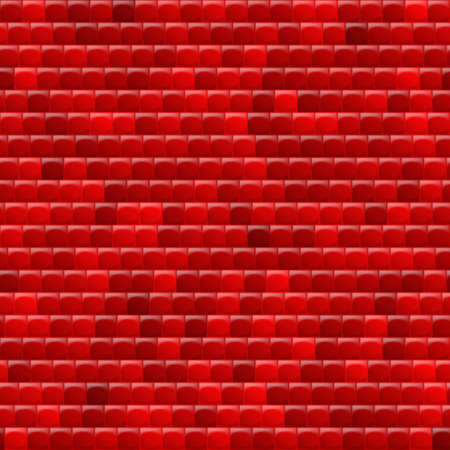 corrugated steel: Heterogeneous corrugated surface. Seamless pattern red background
