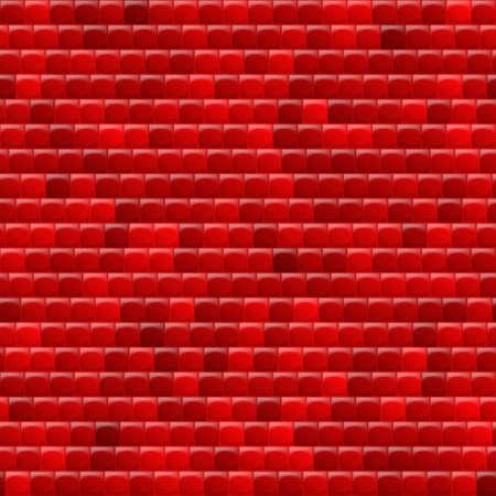 heterogeneous: Heterogeneous corrugated surface. Seamless pattern red background