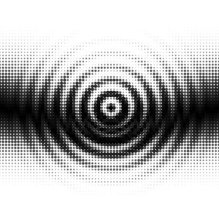 Black and White Gradient Seamless Background with Radial Ripples