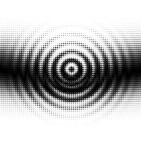 Noir et Blanc Gradient Seamless avec Radial Ripples Vecteurs