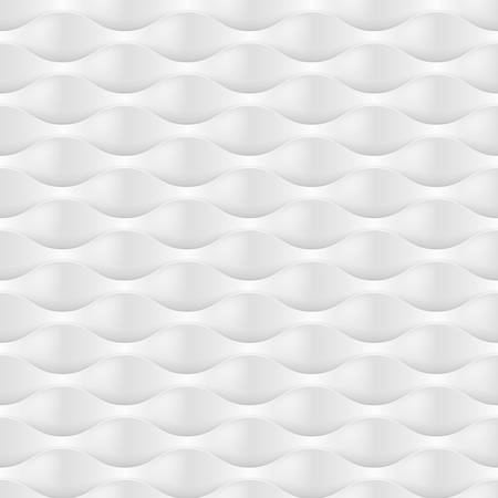 convexity: Embossed Texture Wave. Seamless Pattern in Light Gray Color