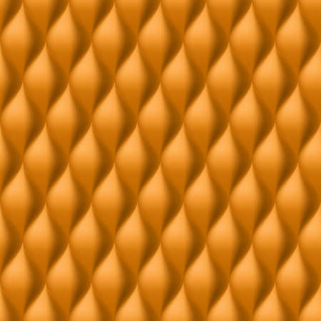 convex: Vertical Convex Wavy Seamless Pattern. Orange Color Background