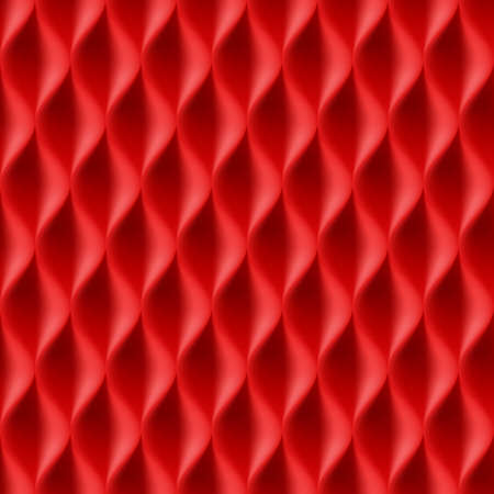 curvature: Vertical Wavy Seamless Pattern. Red Color Background