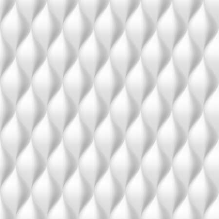 convex: Vertical Convex   Wavy Seamless Pattern. White Color Background