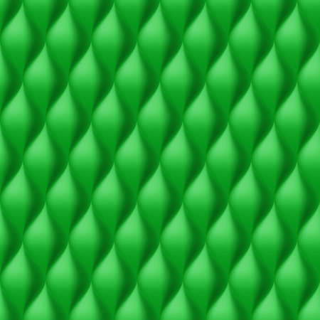 convex: Vertical Convex Wavy Seamless Pattern. Green Color Background