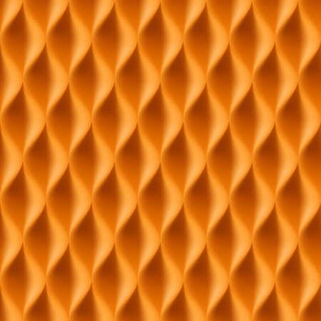 curvature: Vertical Wavy Seamless Pattern. Orange Color Background