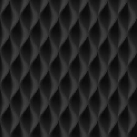 curvature: Vertical Wavy Seamless Pattern. Black Color Background