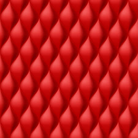 convex: Vertical Convex Wavy Seamless Pattern. Red Color Background Illustration