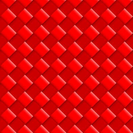 convex: Red Seamless Pattern with Convex Square Design