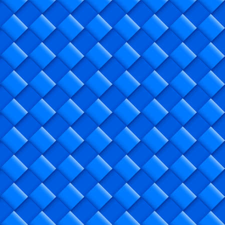 convex: Blue Seamless Pattern with Convex Square Design Illustration