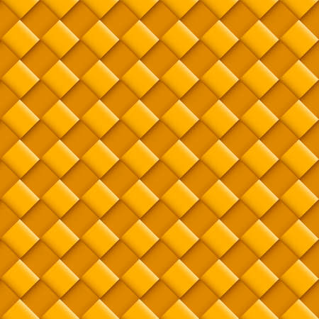 convex: Orange Seamless Pattern with Convex Square Design Illustration