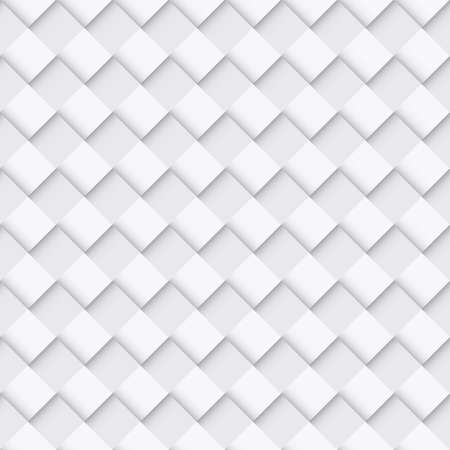 convex: White Seamless Pattern with Convex Square Design Illustration