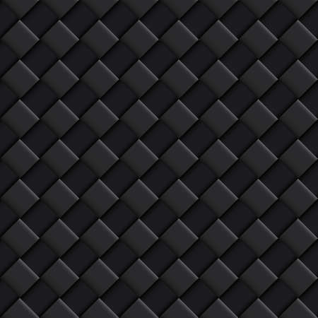 convex: Black Seamless Pattern with Convex Square Design