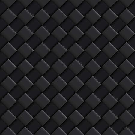 Motif continu noir avec Convex Carré Design