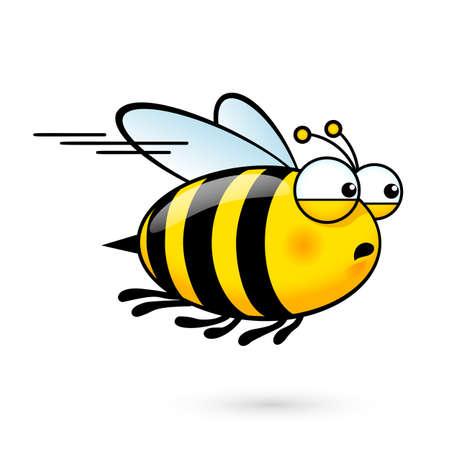 abeja caricatura: Ilustración de una abeja linda friendly prisa por Visita