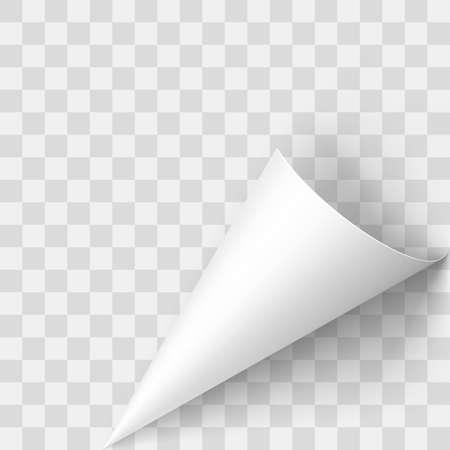 Illustration of Transperent Page Corner. Template Design for Creative Idea Vettoriali