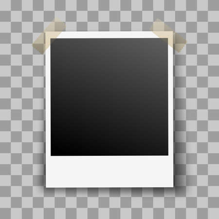 adhesive tape: Photo Frame on Transparent Background with Adhesive Tape
