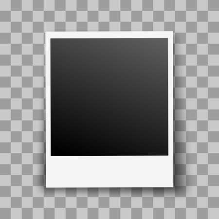 Retro Photo Frame con effetto ombra trasparente