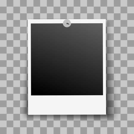 shadow effect: Photo Frame Fixed and Metal Pin with Transparent Shadow Effect