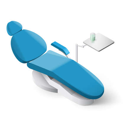 Isometrischen Zahnarztstuhl auf weißem Hintergrund für Design