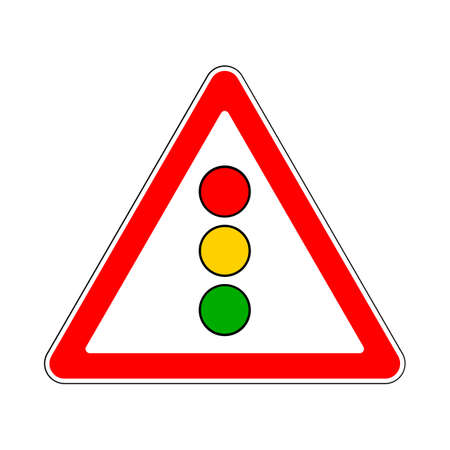 trafficlight: Illustration of Triangle Sign for Traffic Lights Illustration