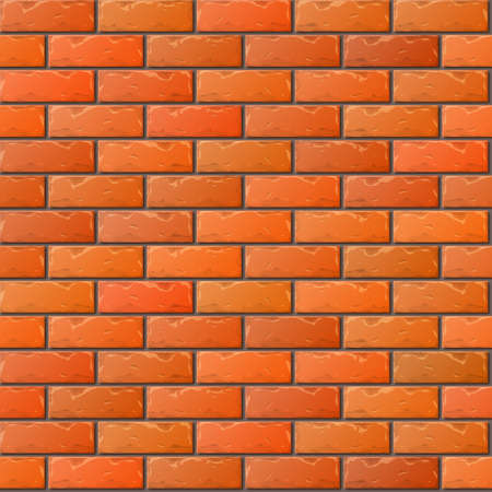 stone wall: Old Orange Brick Wall Seamless Pattern for Continuous Replicate