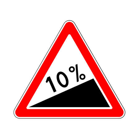 steep: Traffic-Road Sign: Steep Climb or Steep Slope