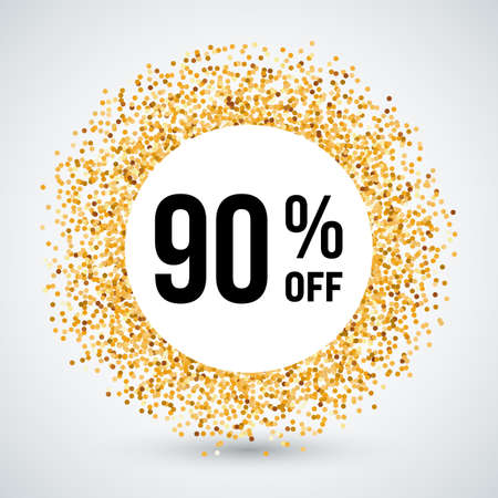 ninety: Golden Circle Frame with Discount Ninety Percent
