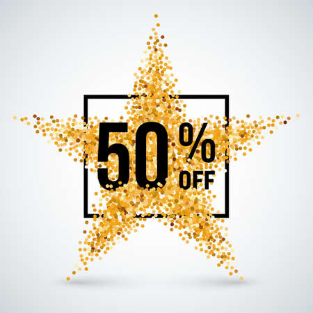 handful: Golden Star and Frame with Discount Fifty Percent