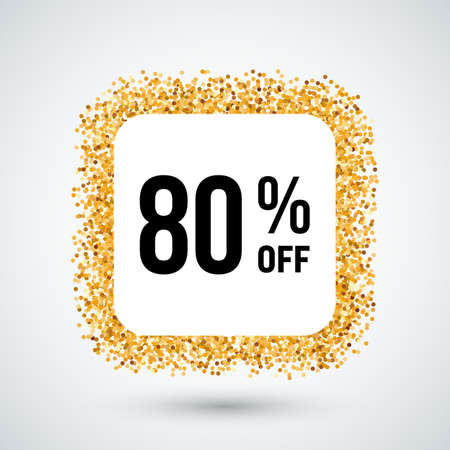 eighty: Golden Frame with Discount Eighty Percent for Design