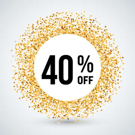 forty: Golden Circle Frame with Discount Forty Percent