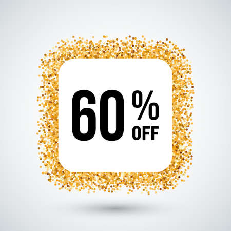 sixty: Golden Frame with Discount Sixty Percent for Design