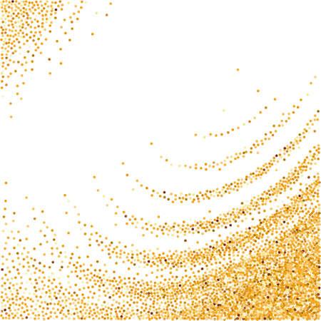 white wave: Illustration of Gold Glittering Wave for Design on White Background Illustration