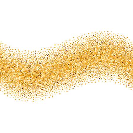 Illustration de l'or Glittering Simple Wave for Design Vecteurs
