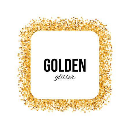 square frame: Golden Frame in the Form of Square with Text