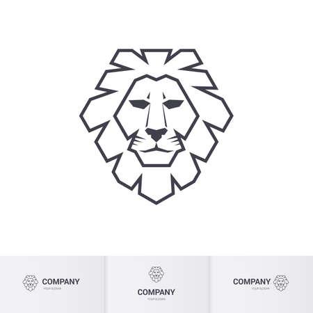 lion roar: Lion Head for Heraldic or Mascot Design. Illustration