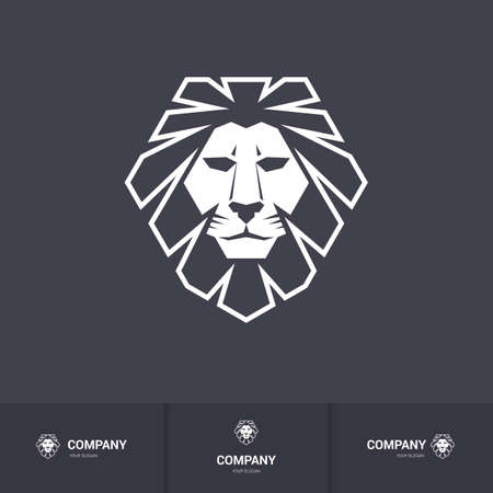 head for: Lion Head for Heraldic or Mascot Design. Illustration